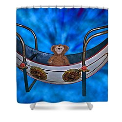 Gondola Bear Shower Curtain by Thomas Woolworth