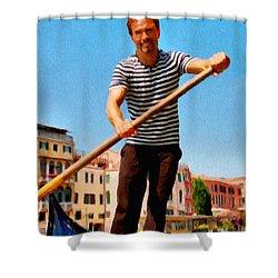 Gondolier Shower Curtain by Jeff Kolker