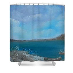 Gone Fishin Shower Curtain