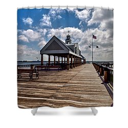 Shower Curtain featuring the photograph Gone Fishing by Sennie Pierson