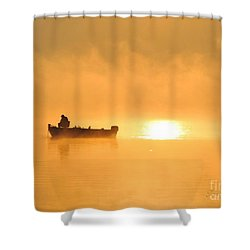 Shower Curtain featuring the photograph Gone Fishing by Terri Gostola