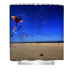 Gone Flyin Shower Curtain