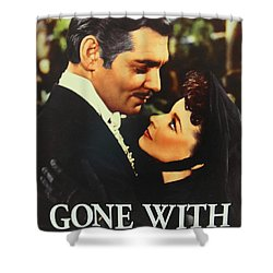 Gone With The Wind Shower Curtain by Natalie Ortiz