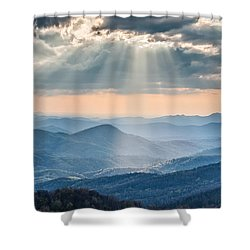 Good Afternoon From Max Patch Shower Curtain by Rob Travis