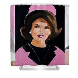 Good And Plenty Jackie O  Shower Curtain by Candace Lovely