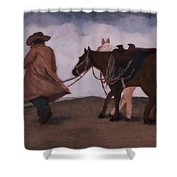 Good Day For A Walk Shower Curtain by Christy Saunders Church