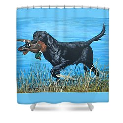 Good Dog Shower Curtain by Jeanette Jarmon