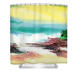 Good Evening Shower Curtain by Anil Nene