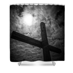 Good Friday Shower Curtain by Caitlyn  Grasso