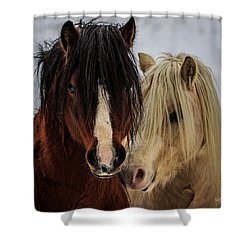 Good Friends Shower Curtain by Everet Regal