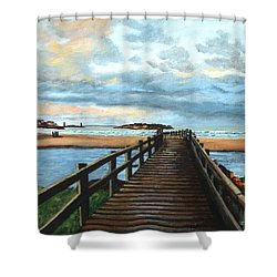 Good Harbor Beach Gloucester Shower Curtain