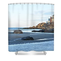 Good Harbor Beach Shower Curtain