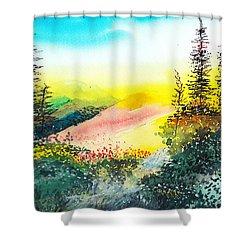 Good Morning 3 Shower Curtain by Anil Nene