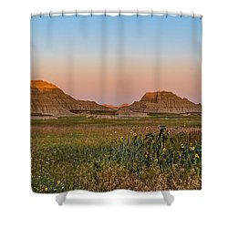 Shower Curtain featuring the photograph Good Morning Badlands II by Patti Deters