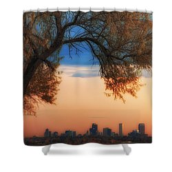 Good Morning Denver Shower Curtain by Darren  White