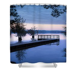 Good Morning For Fishing Shower Curtain by David Morefield