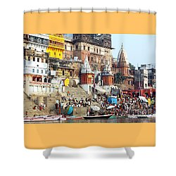 Good Morning Ganga Ji 2 Shower Curtain
