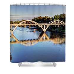 Good Morning Grants Pass II Shower Curtain by Heidi Smith