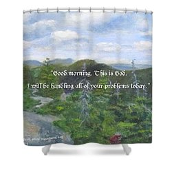 Shower Curtain featuring the painting Good Morning by Linda Feinberg