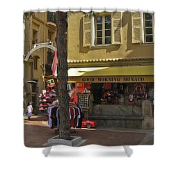 Good Morning Monaco Shower Curtain by Allen Sheffield