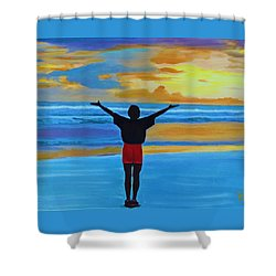 Good Morning Morning Shower Curtain