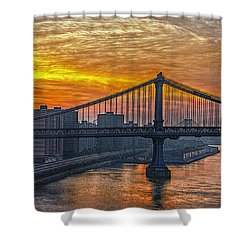 Good Morning New York Shower Curtain