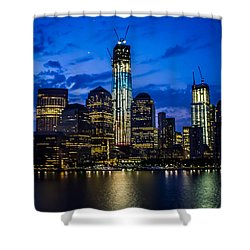 Good Night, New York Shower Curtain by Sara Frank