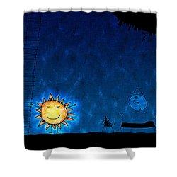 Good Night Sun Shower Curtain by Gianfranco Weiss