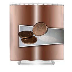 Shower Curtain featuring the photograph Goodbye Canadian Penny by Pennie  McCracken