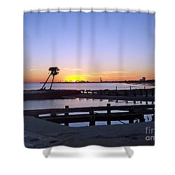 Shower Curtain featuring the photograph Goodbye Sun by Roberta Byram