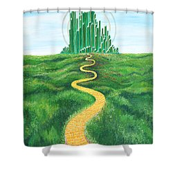 Goodbye Yellow Brick Road Shower Curtain