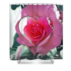 Valentine's Day Rose Shower Curtain