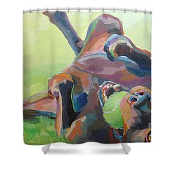 Goofball Shower Curtain by Kimberly Santini