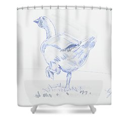 Goose Walking Shower Curtain