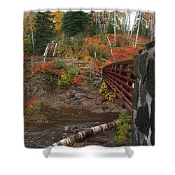Gooseberry Bridge Shower Curtain by James Peterson