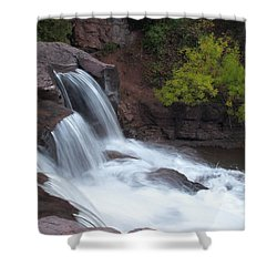 Shower Curtain featuring the photograph Gooseberry Falls In Slow Motion by James Peterson
