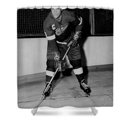Gordie Howe Poster Shower Curtain