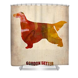 Gordon Setter Poster 1 Shower Curtain by Naxart Studio