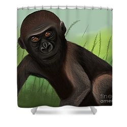 Gorilla Greatness Shower Curtain