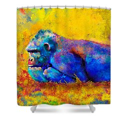 Shower Curtain featuring the painting Gorilla by Sean McDunn