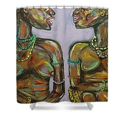 Gossip Shower Curtain by Lucy Matta