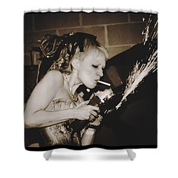 Shower Curtain featuring the photograph Got A Light by Alice Gipson
