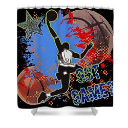 Got Game? Shower Curtain by David G Paul