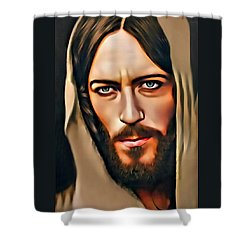 Shower Curtain featuring the digital art Got Jesus? by Karen Showell