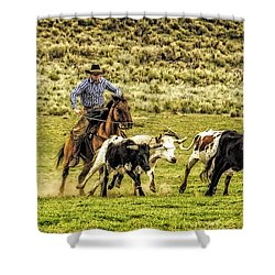 Shower Curtain featuring the photograph Gotcha - 2013 by Joan Davis