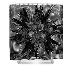 Goth Funeral Wreath Shower Curtain by First Star Art
