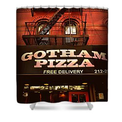 Gotham Pizza Shower Curtain