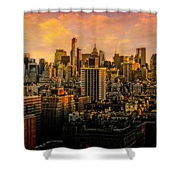 Shower Curtain featuring the photograph Gotham Sunset by Chris Lord