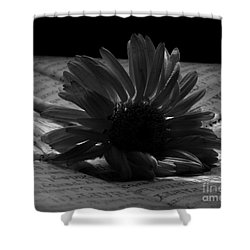 Gothic Birthday Flower Bw Shower Curtain by Chalet Roome-Rigdon