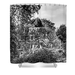 Gothic Hampstead Shower Curtain by Rona Black